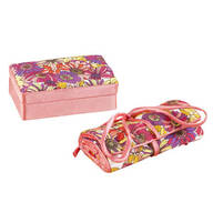 2 Piece Mini Jewelry Box and Roll Organizer