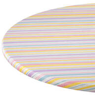 Easter Stripe Vinyl Elasticized Table Cover