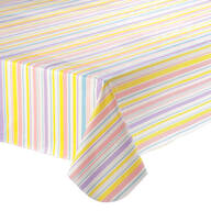 Easter Stripe Vinyl Table Cover