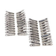 Stainless Steel Clothespins - Set of 40