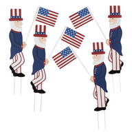 Uncle Sam Metal Yard Stakes by Fox River™ Creations, Set of 4