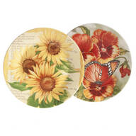 Flower Display Plates, Set of 2