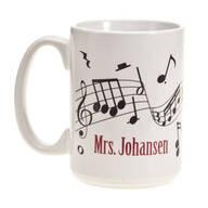 Personalized Musical Notes Mug