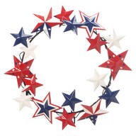 Metal American Barn Star Wreath by Maple Lane Creations™
