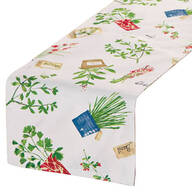 Potted Herbs Table Runner by OakRidge® Kitchen Gallery