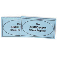 Large Print Check Registers - Set of 2
