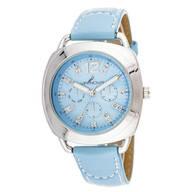 Blue Stitched Strap Watch