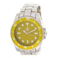 Yellow Face Analog Watch