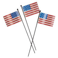 Metal American Flag Planter Stakes by Maple Lane Creations™, Set of 3
