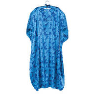 Blue Floral Caftan with Matching Hanger