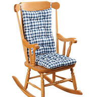 Gingham Rocking Chair Cushion Set by OakRidge™