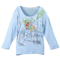 Cardinal Snowfall 3/4 Sleeve Top