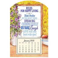 Mini Magnetic Rules Happy Living Calendar