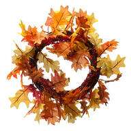 Lighted Fall Leaf Wreath