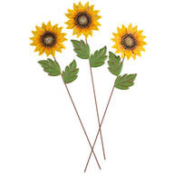 Metal Sunflower Stakes by Maple Lane Creations™, Set of 3