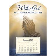 Mini Magnetic Calendar Praying Hand