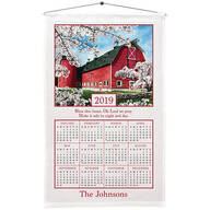 Personalized Country Blossoms Calendar Towel