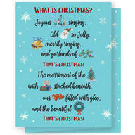 Personalized What is Christmas Card Set of 20