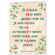 Personalized Good News Christmas Cards - Set of 20