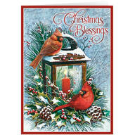 Personalized Cardinals Greeting Christmas Cards - Set of 20