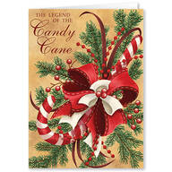 Personalized Legend of Candy Cane Scented Christmas Cards - Set of 20