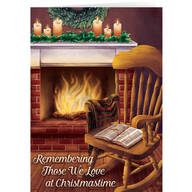 Personalized The Empty Chair Christmas Cards - Set of 20