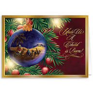 Personalized Nativity Ornament Christmas Cards - Set of 20