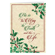 Personalized He is the Way Christmas Card - Set of 20