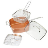 4-Pc. Square Copper Cookware Pan Set