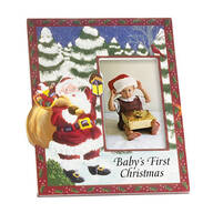 Personalized Santa's Surprise Christmas Frame Vertical