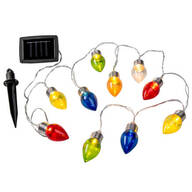 Solar Christmas Bulbs, Set of 10