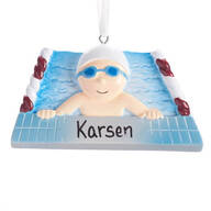 Personalized Swimmer Ornament