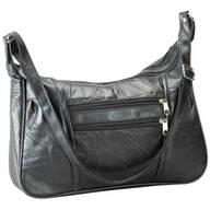 Black Patch Leather Handbag