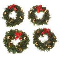 Mini Lit Wreath Set