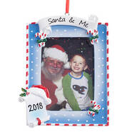 Dated Santa & Me Frame Ornament