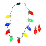 Jumbo Christmas Necklights & Earrings, Set of 2