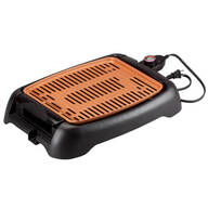 "NonStick Ceramic Copper 13"" Countertop Electric Grill by HMP"