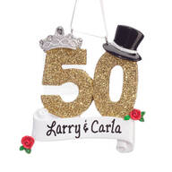 Personalized 50th Anniversary Ornament