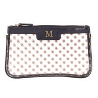 Polka Dot Clear Cosmetic Bag