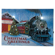 Doug Knutson Lighted Christmas Greetings Train Canvas by Holiday Peak™