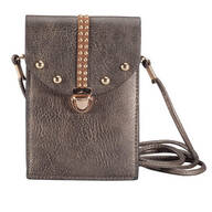 Pewter Touch Screen Crossbody Bag