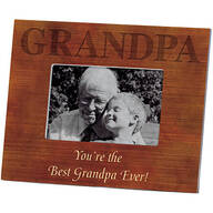 Personalized Photo Frame for Grandpa – Wood Grain Frame