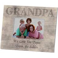 Personalized Photo Frame for Grandpa – Shiplap Frame