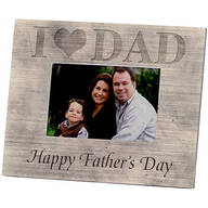 Personalized Picture Frame – Shiplap I Love Dad Frame