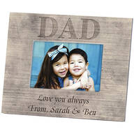 Personalized Photo Frame for Dad – Shiplap Photo Frame