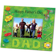 Personalized Photo Frame for Dad – Lawn Words Frame