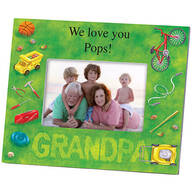 Personalized Photo Frame for Grandpa – Lawn Words Frame