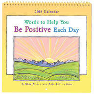 """Words to Help You Be Positive"" Mini Wall Calendar"