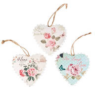 Hanging Heart Plaques, Set of 3