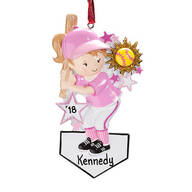 Personalized Softball Ornament